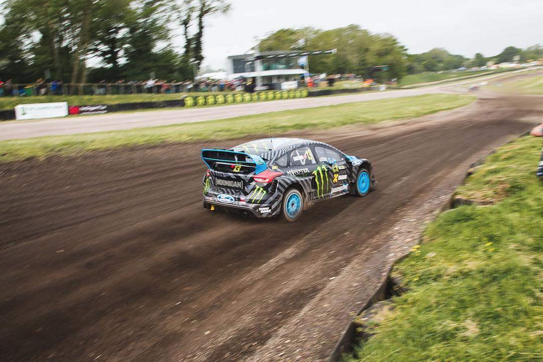 Shredding through the week with @andreasbakkerud!#WorldRX Photo by @roncar