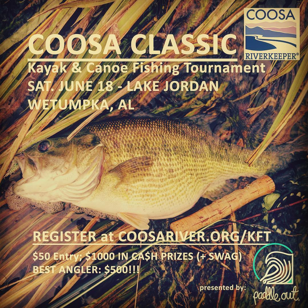 Have you signed up yet Alabama??? Weather's gonna be perfect what are you waiting for? #kayakfishing #bassfishing #lakejordan #wetumpka #coosariver