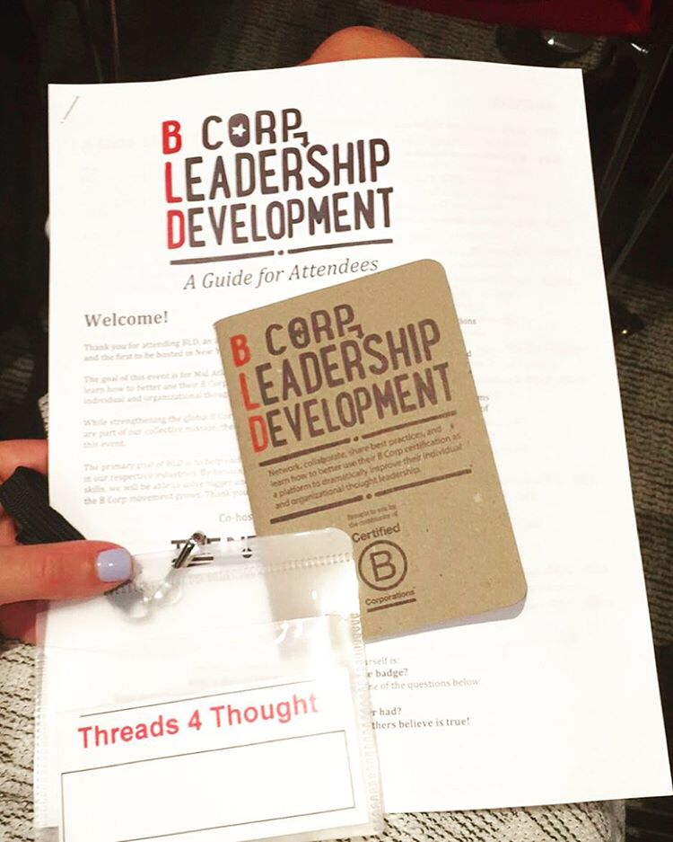 Spending the day with fellow @bcorporation's at the B Corp Leadership Development Event in NYC. We are proud to be a B Corp & are joining others to use business as a force for good. #bcorp #nyc #BLD #Bthechange