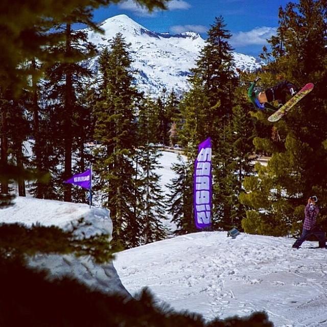 Shot of @joeymaiz , one of the South Tahoe homies. He's doing a back 7 Japan @sierra_at_tahoe 'big one. #foridersbyriders #handmadelaketahoe