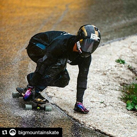 #Repost @bigmountainskate ・・・ Alpenrauschen was WET, but we played very and railed turns all the same!  #bigmountainskate #alpenrauschen pic: @ckphotogrhy
