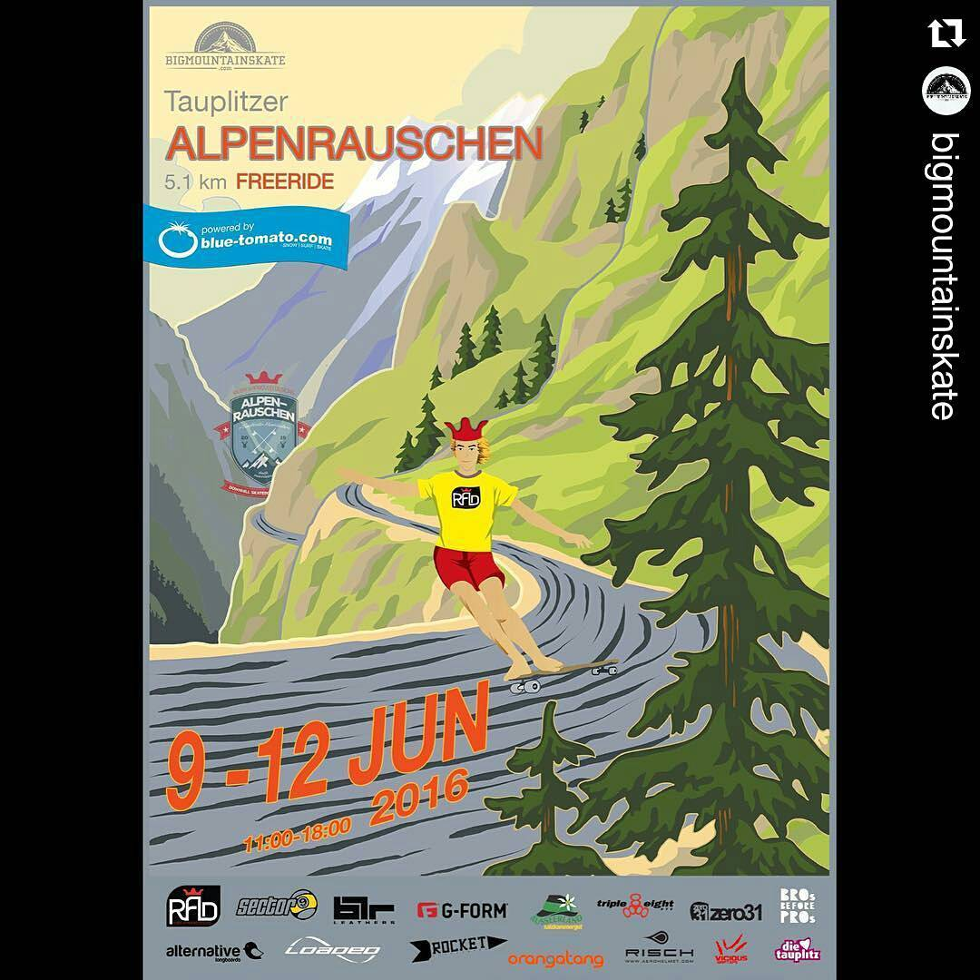 #Repost @bigmountainskate ・・・ This weekend is #ALPENRAUSCHEN!  #bigmountainskate #alpenrauschen #bluetomato #roadporn #alps #downhill #downhillskateboarding #austria #tauplitz #skate #miniramp #sk8 #longboard #longboarding #skateboard #thane #slide...