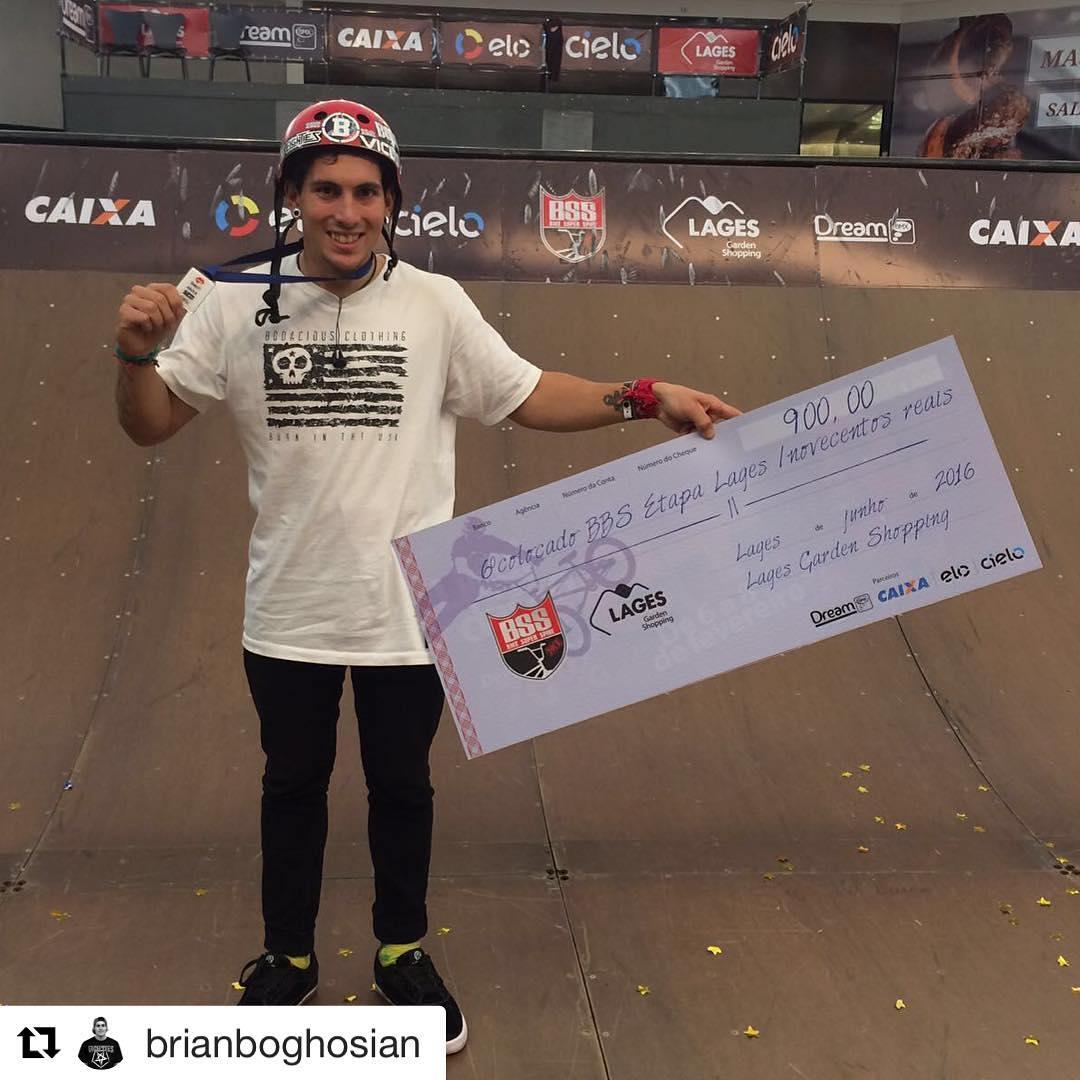 Felicitaciones a este CRACK!  #Repost @brianboghosian ・・・ Finalizó el contest #bmxsuperspine #BSS #bmxbrasil acá en Brasil - Lages