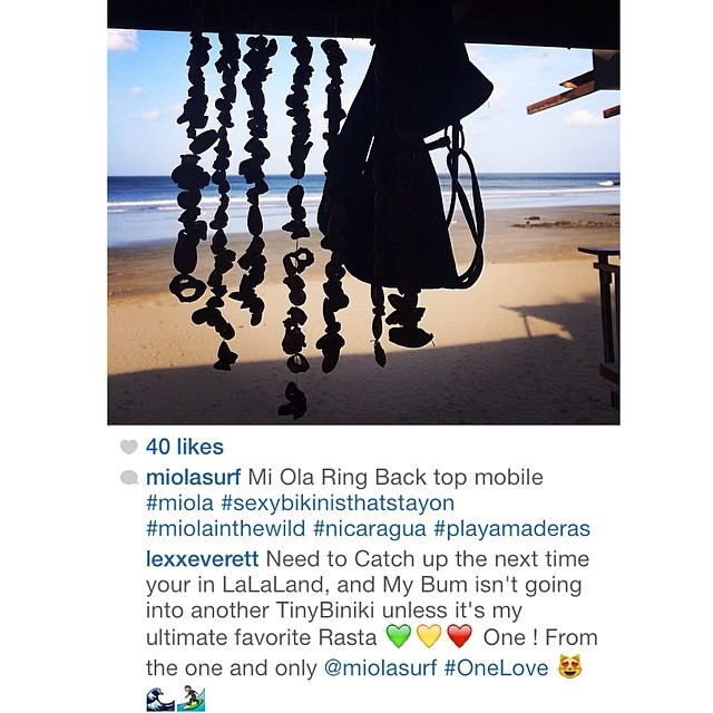 We love seeing comments like this! Thanks chica! @lexxeverett #miola #sexybikinisthatstayon