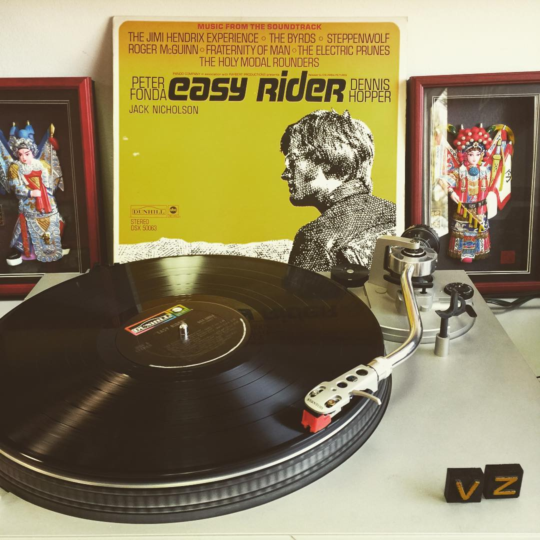 It's #TurntableTuesday!!! We are jamming to a rad soundtrack that should be in every real vinyl collection...#EasyRider! Really inspiring us to hit the road for the summer! - #VonZipper #SupportWildLife