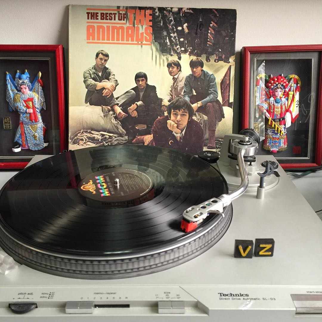 New needle in the deck and we are good to go! #TurntableTuesday is back!!! @stephenduke picked out a rad one today. We jammed to The Best of #TheAnimals! - #VonZipper #SupportWildLife