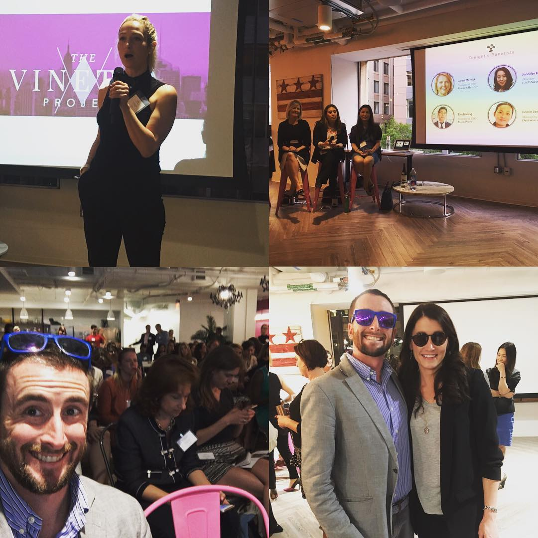Fantastic #vinettaproject pitch event last night for #female #founders in #dctech @cookiecutterkingdom @vinettaproject @socialtables @julialandauer #womenintech
