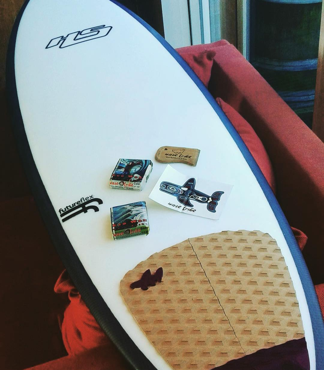 Good looking #traction and #surfboard from a stoked #wavetribe customer!