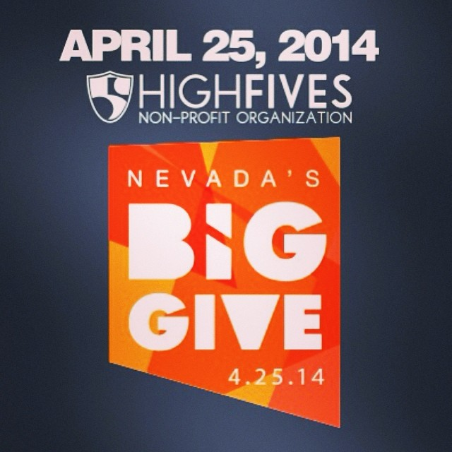 #GiveWhereYouLive today via the Nevada's Big Give! 24-Hours of online giving. Ends at midnight TONIGHT. You can help support #HighFivesAthletes (highfivesfoundation.org) for link,