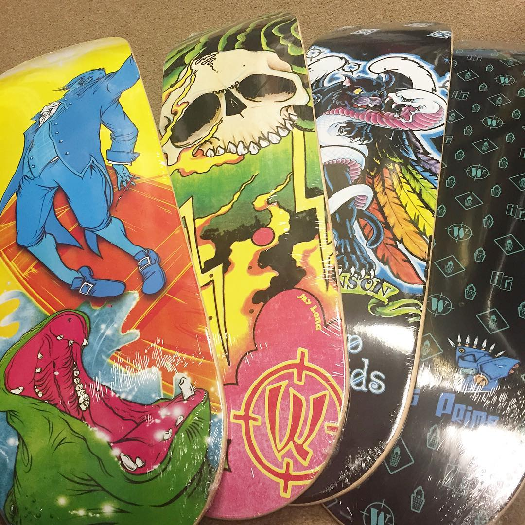 Reissues are in. @habbenink @junoink @peteferrel_tattooer all left their mark. Give them a follow and enjoy their #genius there are literally a handful of each of these decks. Message us if you want one shipped to your home planet.