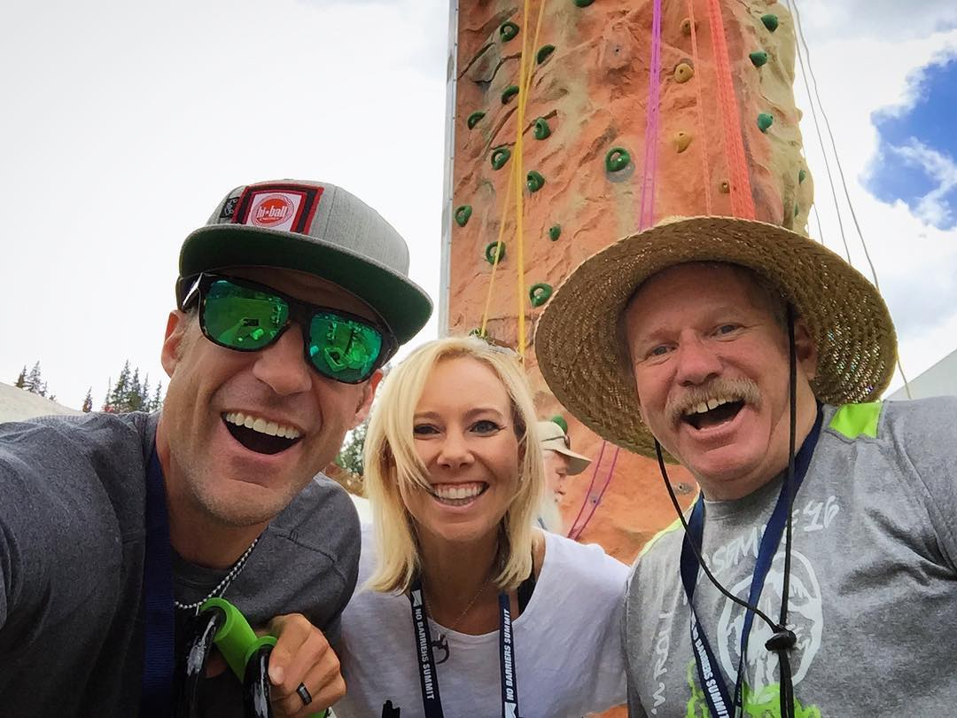 Hanging out at the @nobarriersusa annual Summit event here in @coppermtn #Colorado with legend & pioneer #MarkWellman   #HighFivesAmbassadors   #summitwithus