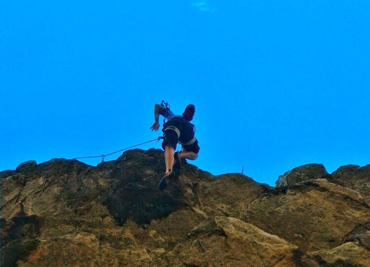 Como en la vida.... @ffalguera en busca de la cima