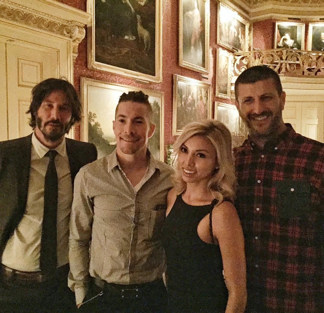 Had a lot of fun tonight at Lord March's house for a bougie private #GoodwoodFOS dinner this evening. Just the Lord and 200 of us. Us including folks like these two two-wheel fanatics: Devil's Advocate, Mr. Keanu Reeves and Mr. Nicky Hayden (plus...