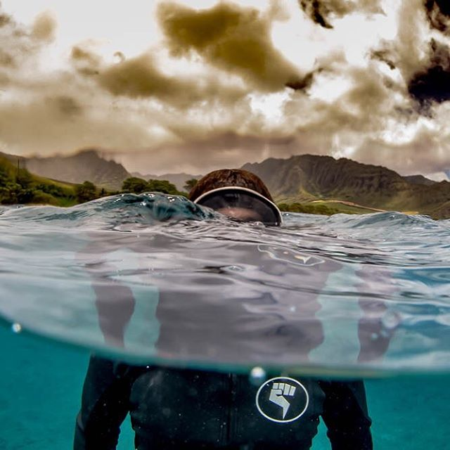 On the surface of the weekend. Don't forget to stop by @sustainablecoastlineshawaii beach clean up at Waikiki beach tomorrow. Nothing better than saving the environment and getting your hands on our new noRep x @sustainablecoastlineshawaii boardshorts...