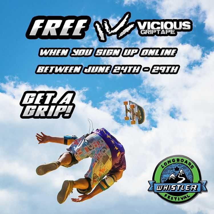 We are offering free #viciousgrip to everyone who signs up to the @whistlerlbfest between June 24 - 29th!  Get out there and tear up the village!  #idfracing #whistler #freestylepark #bigair
