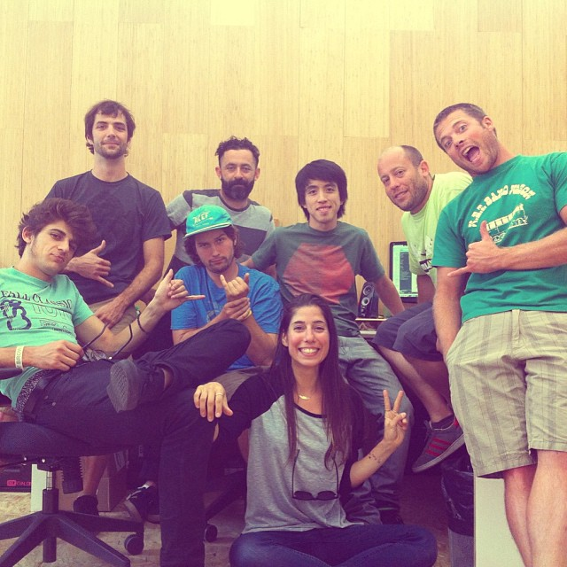 Hanging out at the @loadedboards & @orangatangwheels HQ with some lovely humans @reverantone @pablocastror @danewebber @kylechin @theboardinglife @valeriakechichian We love this place!