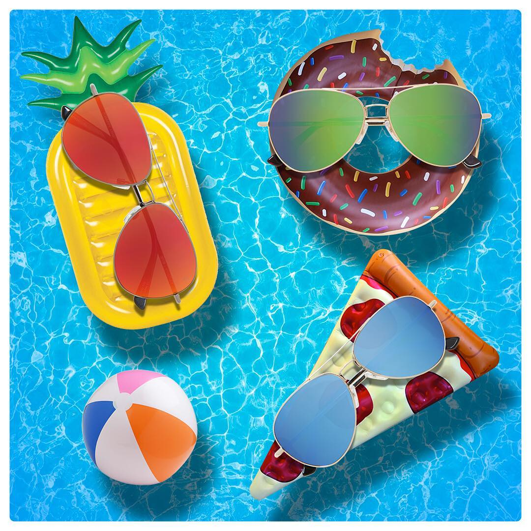 #seehappysummer and for the next giveaway tag the people you want to stay busy relaxing with! . . . Hashtag #seehappysummer on your photos all week for a chance at the grand prize announced on #NationalSunglassesDay.  #SEEHAPPY