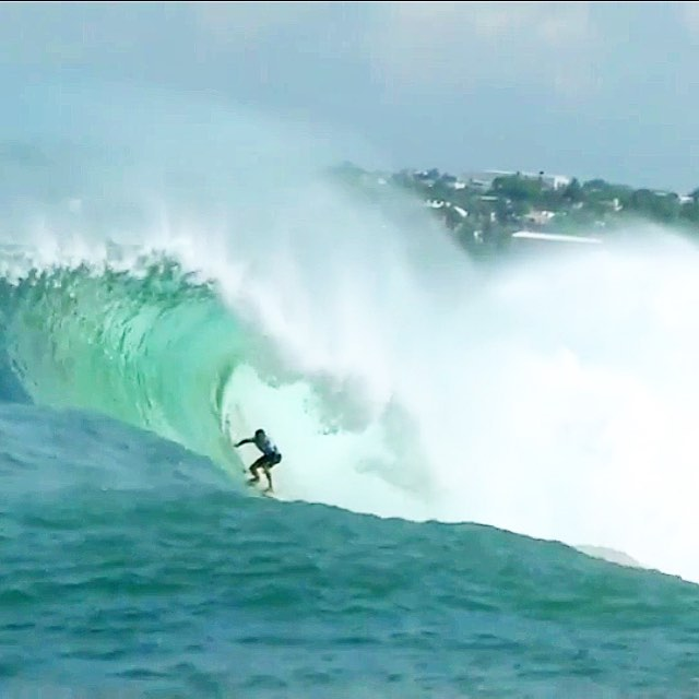 Frame grab of Greg Long from the WSL Big Wave tour at the Mexican Pipeline in Puerto Escondido, Mexico! #mexpipe