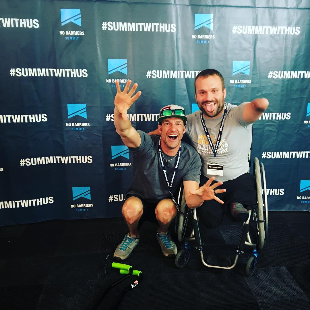 @kylemaynard is 100% positive stoke & light!! Aside from climbing some of the world's biggest mountains, Kyle is a luminary in the world of positive forward movement - follow him, read up, and be inspired | #SummitWithUs | @nobarriersusa 2016