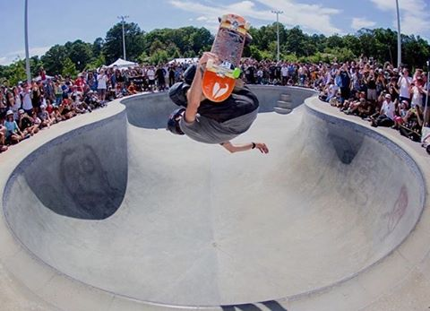 Front and center. @TonyHawk with a McTwist at last week's Get Rad for Ray event. Photo by @shootbt. #GR4R