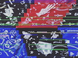 Sábados #Magic #glitchart #style #bandana #dark #pixelart