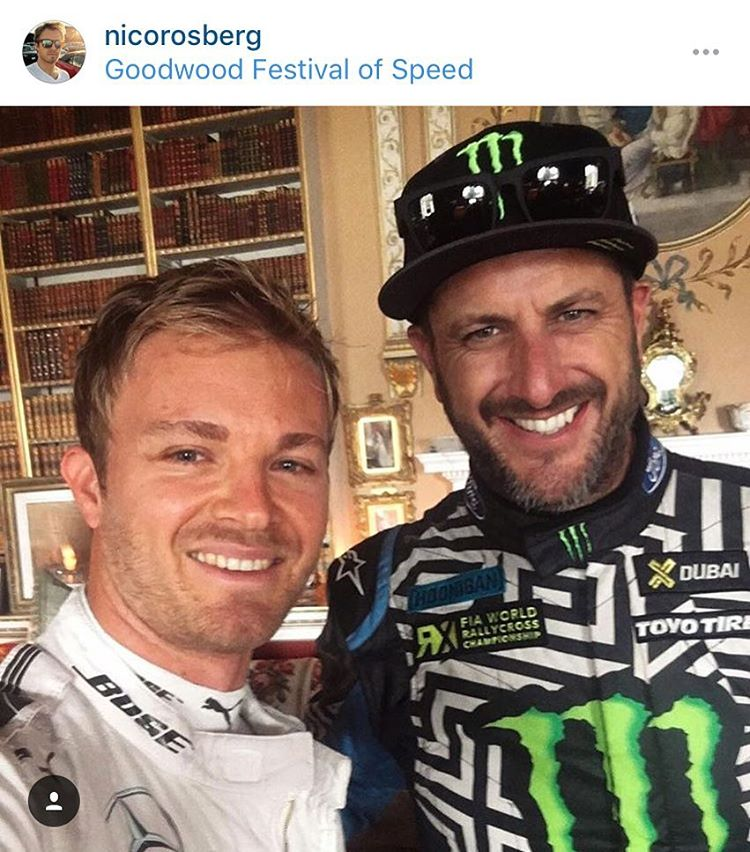 #regram: Hung out and talked FIA WorldRX and F1 with this dude today: current F1 points leader @NicoRosberg. #thepeopleyoumeetatGoodwood