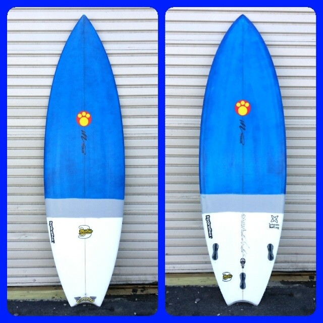 Maurice Cole has joined the ECOBOARD Project! Stoked to get this beautiful #ecoboard for our company quiver... In company colors. Glassed by @hydroflexsurfboards using Super Sap resin. Thanks @mcsurfboards for the killer shape. It's a 6'4 Metro 3 TT.