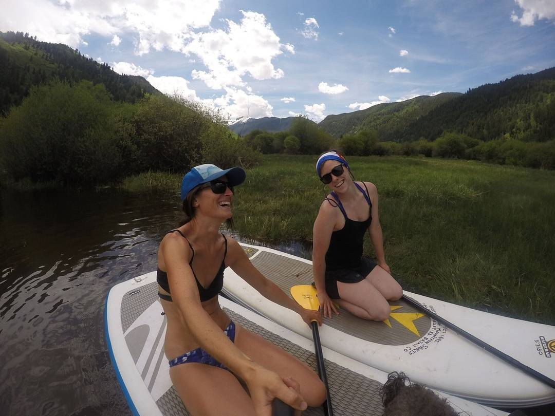 """""""Laughter is the best medicine. It feels so good. Deep belly laughter, time stopping smiles, pure joy. While out paddle boarding with friends and family, there is no limit to our laughter. We fall in the water, wobble around the boards while practicing..."""