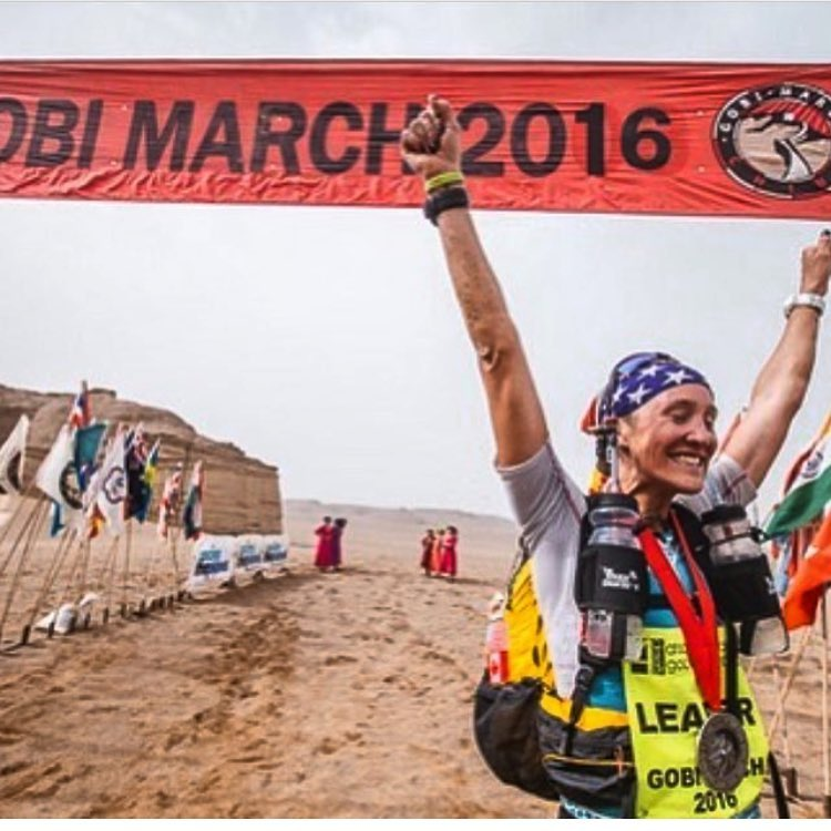 Huge congrats to #A7Renegade @wonderwomanjax for winning the @4deserts Gobi March desert ultra race!  Rocking the A7 Patriot Bandaril and making the USA proud! #avalon7 #liveactivated #ultrarunning #badass #type2fun www.avalon7.co