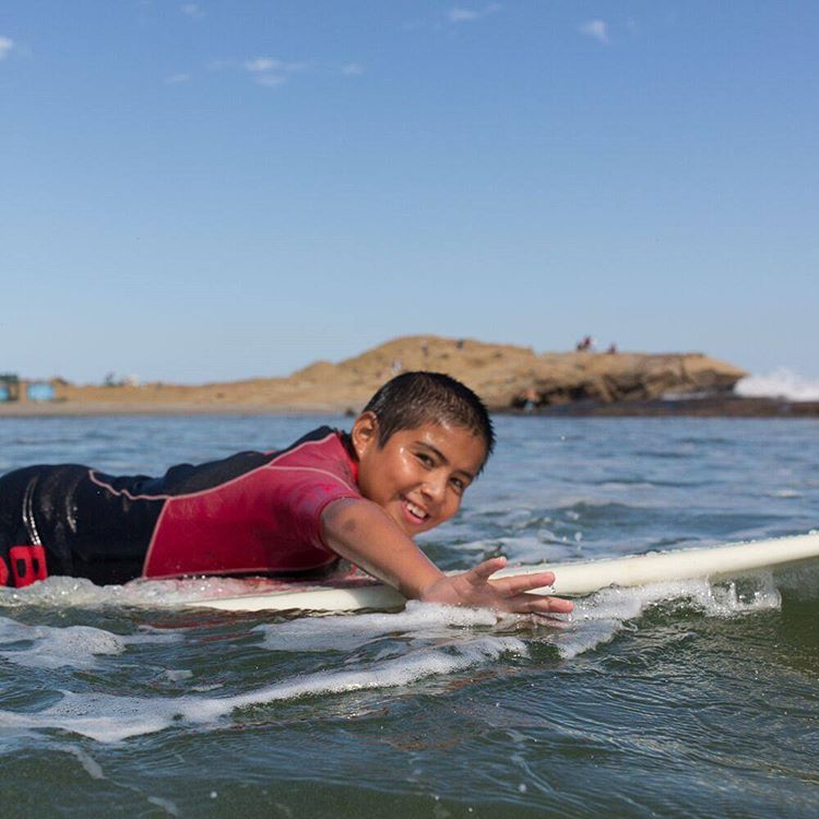 It's fun to go for a surf in Lobitos before or after your day as a volunteer. It's even better when part of your job for the day is to teach the kids how to surf!  @ryanstruck takeover 9/9