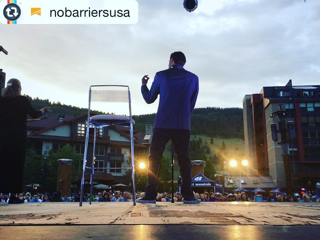 "Repost from @nobarriersusa: ""It's not about what you've done or how you got here, it's about what you're going to do in this moment, for the rest of your life."" - #GrantKorgan 