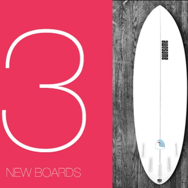 3 New Models for 2014, check them out at www.awesomesurfboards.com  @hwilliamsmith @jduys #awesome #awesomesurfboards #surf #sleds #surfboard #surfboards #pch#madeincalifornia