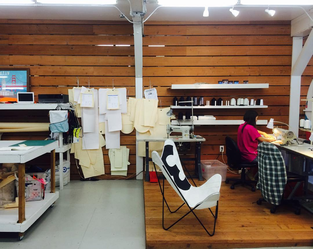 The sewing deck in our SF shop after an inspiring weekend // very exciting things coming ahead. 1122 Howard St, SoMa. Open weekdays from 9-6