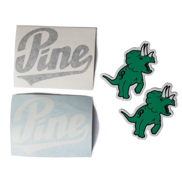 The Pinosaur lives! New sticker packs now live on the site! // #pinebrand #EverydayEquipment