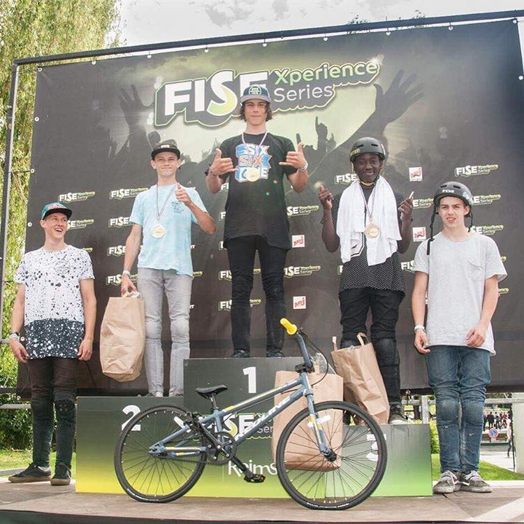 Congrats to @tanguylabertrande on his amateur #BMX win at the recent @fiseworld comp in Reims! Stoked for you Tanguy! Keep on shredding!! #SixSixOne #661Protection #ProtectFun