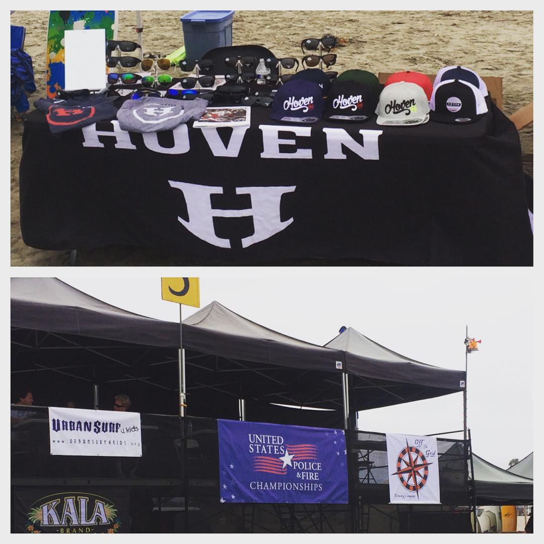 Honored to be apart of the 2016 US Police and Fire Surfing championships. Thanks to all the men and women who protect and serve! Come on down to the Oceanside Jetty and let us return the favor and protect your eyes. #hovenvision #justbusylivin...