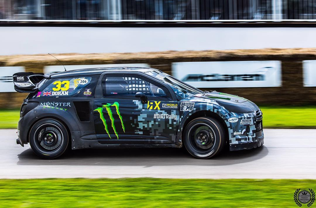 Loved spending some time back in my DS3 RX SuperCar at GoodWood @fosgoodwood, especially with the crazy horse power it has thanks to having no 45mm turbo restrictor on the @borgwarnerperformance turbo and the @vpracingfuels Q16 race fuel (basically jet...
