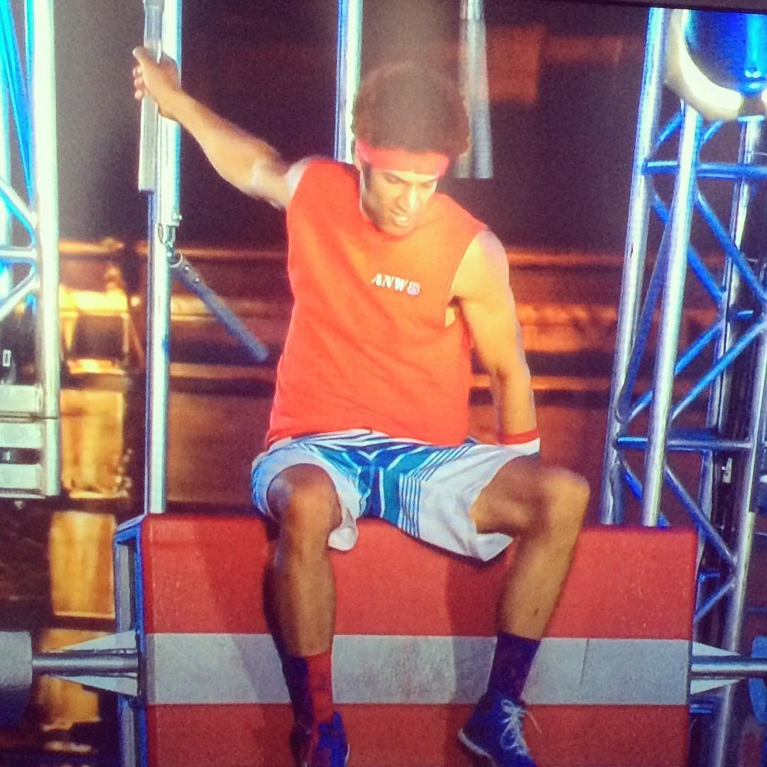 Big congrats to @j0nthegiant on his standout performance on @ninjawarrior last night! His calves looked on point in our Loop design! #sockgame #performance #ninjawarrior #beastmode #actionathletics