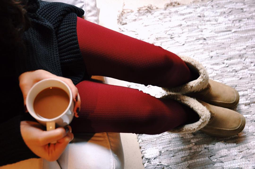 Coffee Break ☕️ Legging Zip Bordeaux