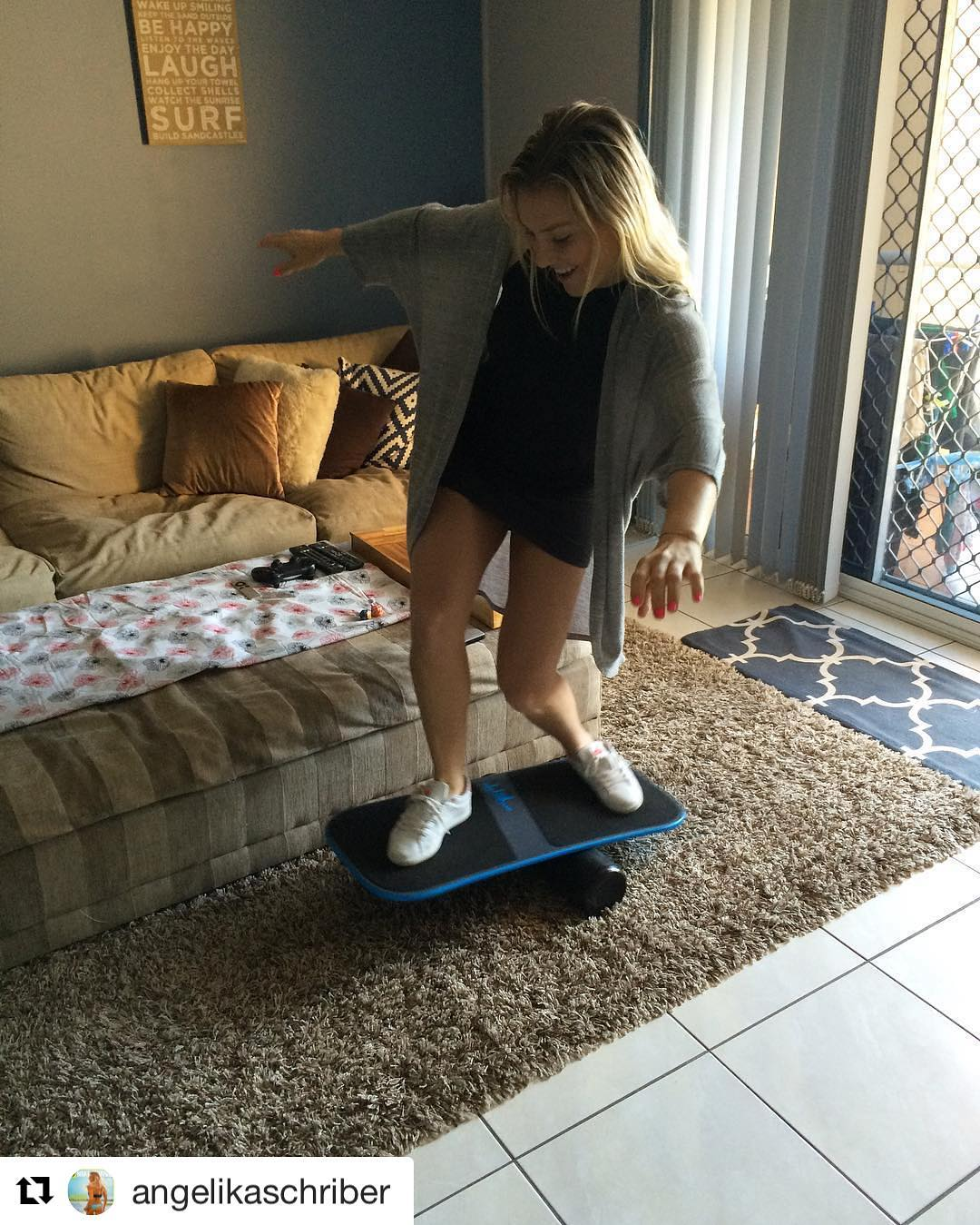 Pro wakeboarder @angelikaschriber working on her balance with her Revolution FIT! Go follow her >> @angelikaschriber