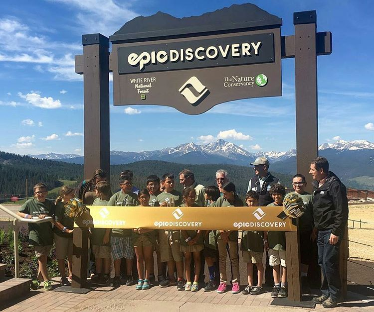 Our youth got to cut the ribbon for the #EpicDiscovery unveiling at @vailmtn ! What an honor