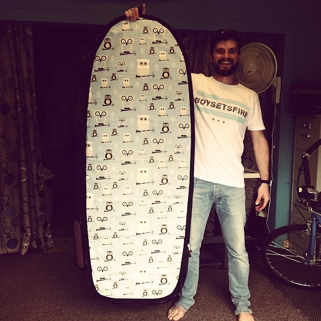 Wave Tribe Europe in the house with #upcycle #boardbag the hoot!