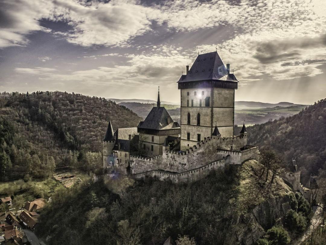 Castle Karlštejn #CzechRepublic  Credit: Romeo Durscher (@VisualAerials) | #Inspire1Pro