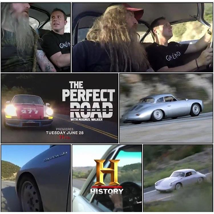 "Congrats to my buddy @MagnusWalker on his new show ""The Perfect Road"" on the History Channel. I really like his show concept - road tripping across America to meet everyone from unknown mechanics to celebrity car peoples, and take their car on their..."