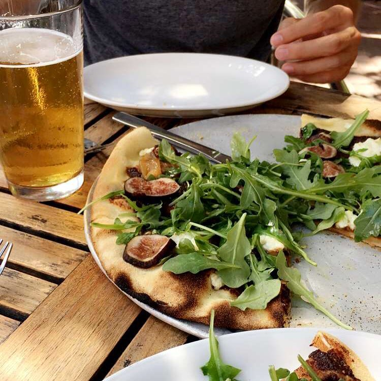 Sunshine, cold beer, pizza, and great company in a beautiful city soon to be explored! @cafeteriaboston  #explore #adventure #traveling #travel #foodie #bostonfoodies #figpizza #pizza #beer #summerale #cafeteriaboston #boston #bostonpizza #summer...