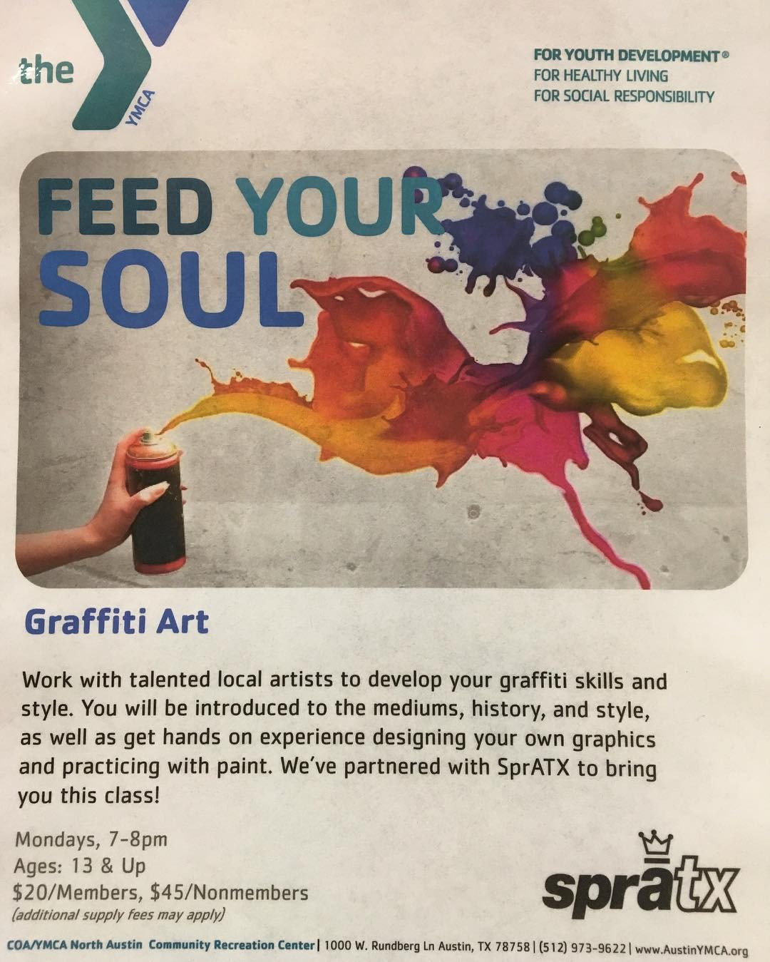 We are always looking to enrich the minds of the youth about taking up art in general.  We have partnered with the @austinymca to introduce anyone interested to our genre of art.  The cutoff for signing up is this Friday so let folks know.  We will be...