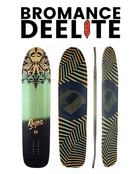 #rayneBROMANCE #deelite at 1750g, it's 22% lighter than a standard Bromance Deck!  It's like a bond so tight you just can't stop thinking about it. We've been working on this longboard for over a year and love, love, love it! We go longboarding...