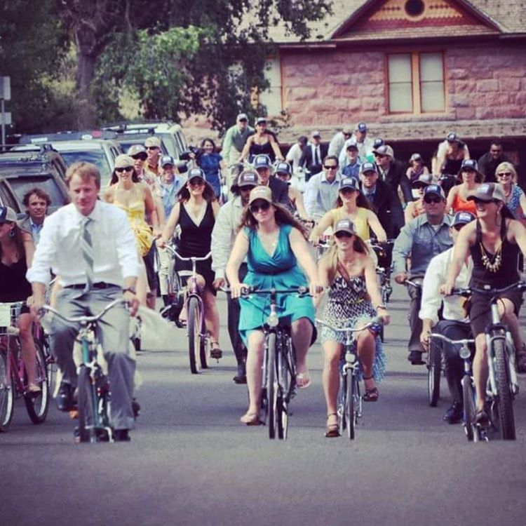 Four years ago today Big Colorado Love was born when wedding guests paraded through Telluride celebrating love, friendship, adventure and Colorado. #bigcoloradolove #telluride #truelove