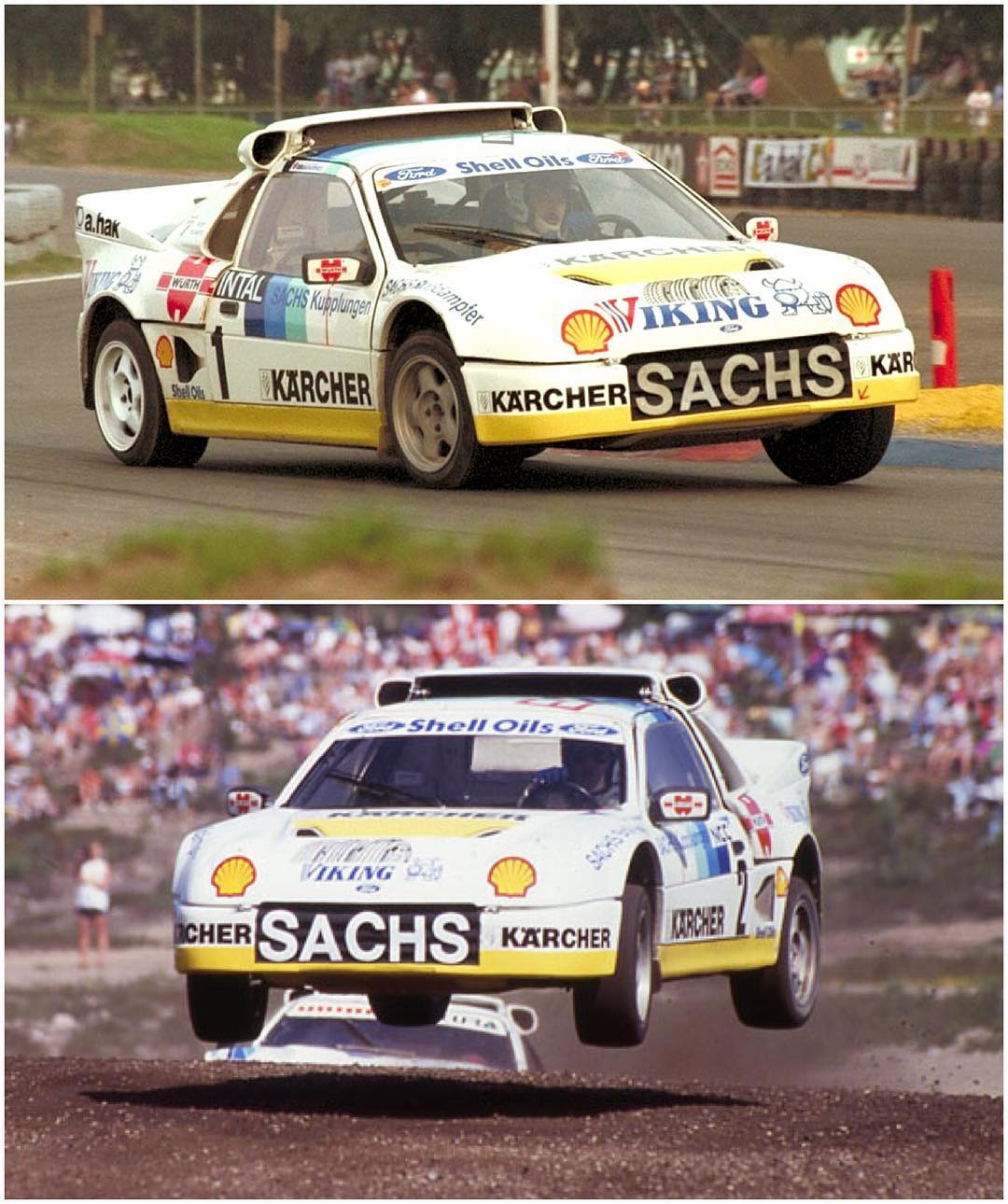 Whilst doing some research on this weekend's @FIAWorldRX race in Höljes, Sweden, I came across some great photos of this Ford RS200 driven by rallycross legend Martin Schanche. Many of the Group B rally beasts were converted to rallycross spec once...