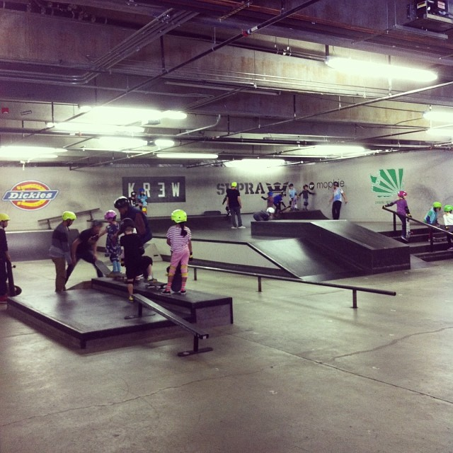 We're at the All Together Skatepark for the @skatelikeagirl WOF5 #skate #seattle #WOF5